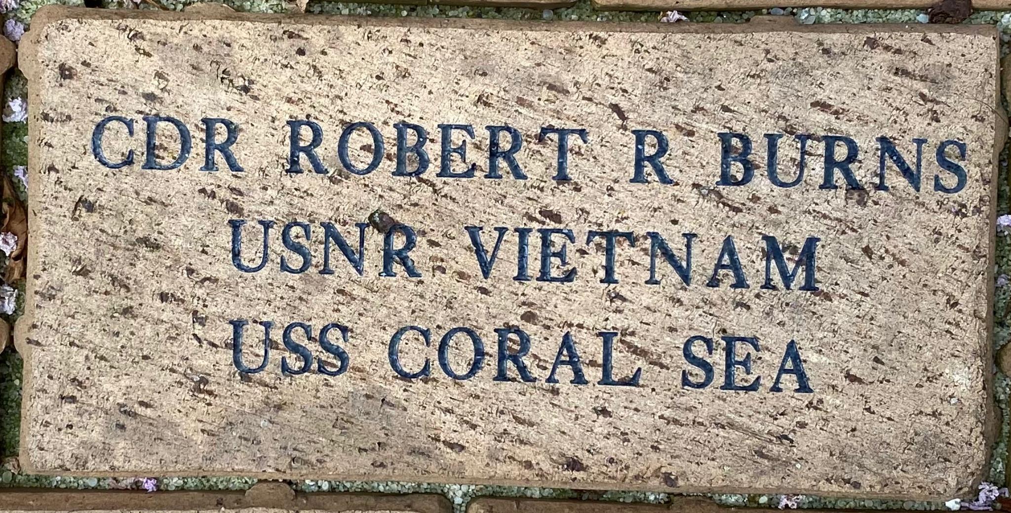 CDR ROBERT R BURNS USNR VIETNAM USS CORAL SEA