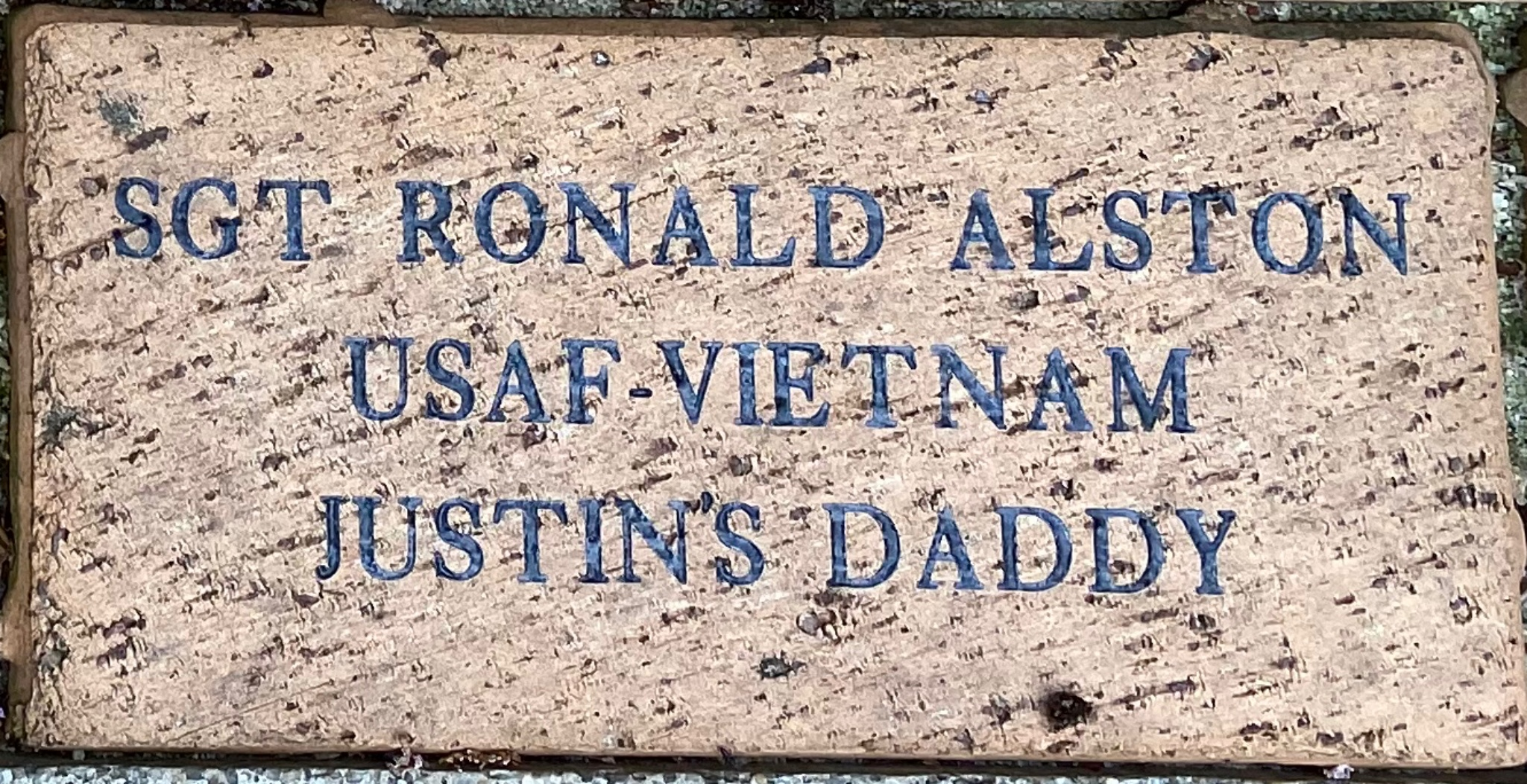 SGT RONALD ALSTON USAF – VIETNAM JUSTIN''S DADDY