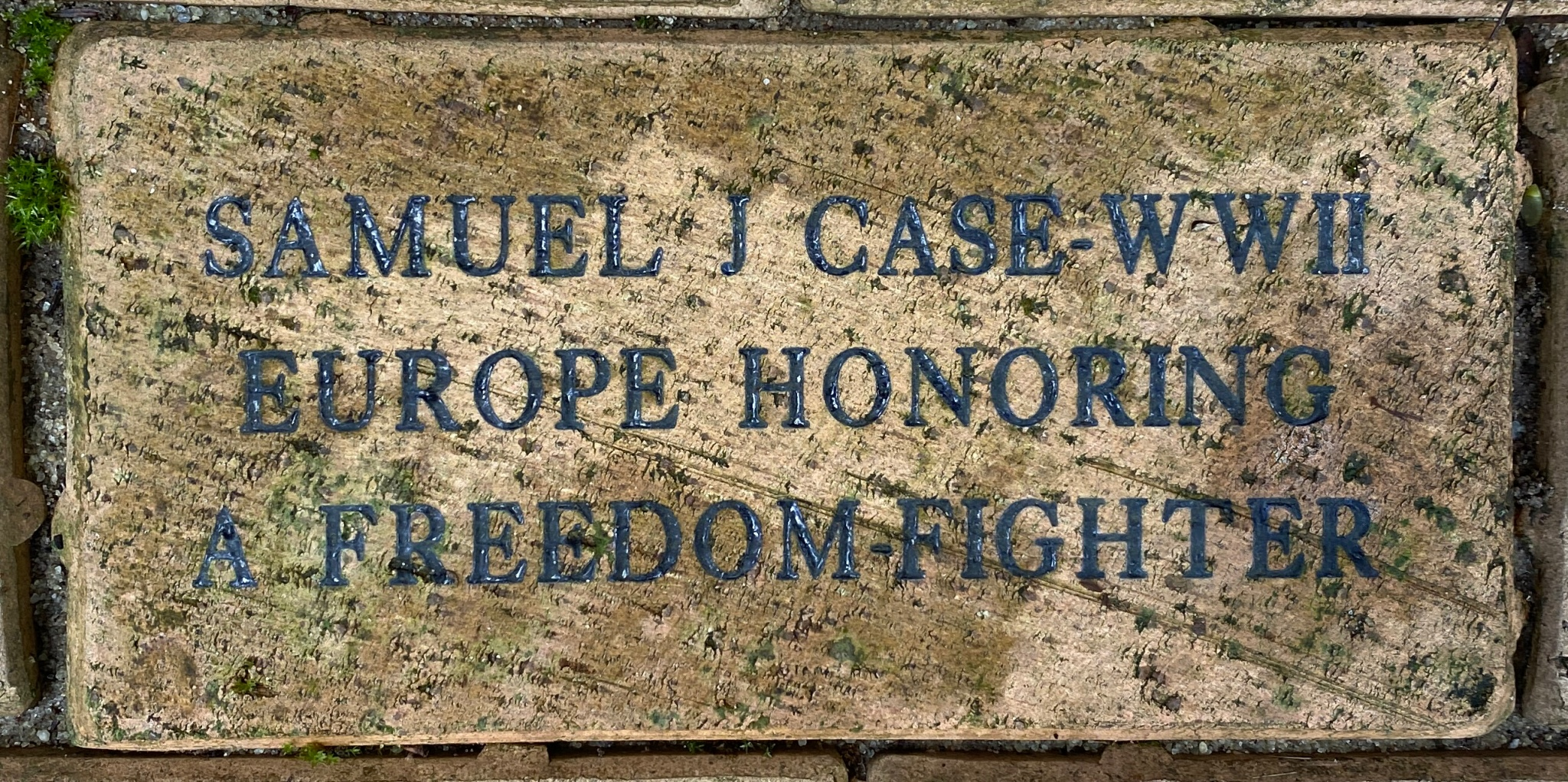SAMUEL J CASE WWII EUROPE HONORING A FREEDOM FIGHTER