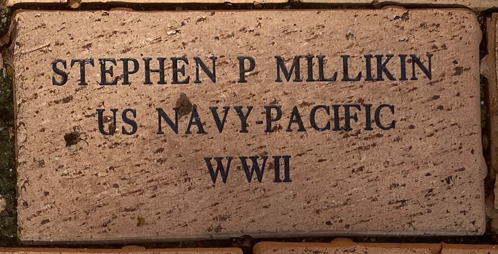 STEPHEN P MILLIKIN US NAVY-PACIFIC WWII
