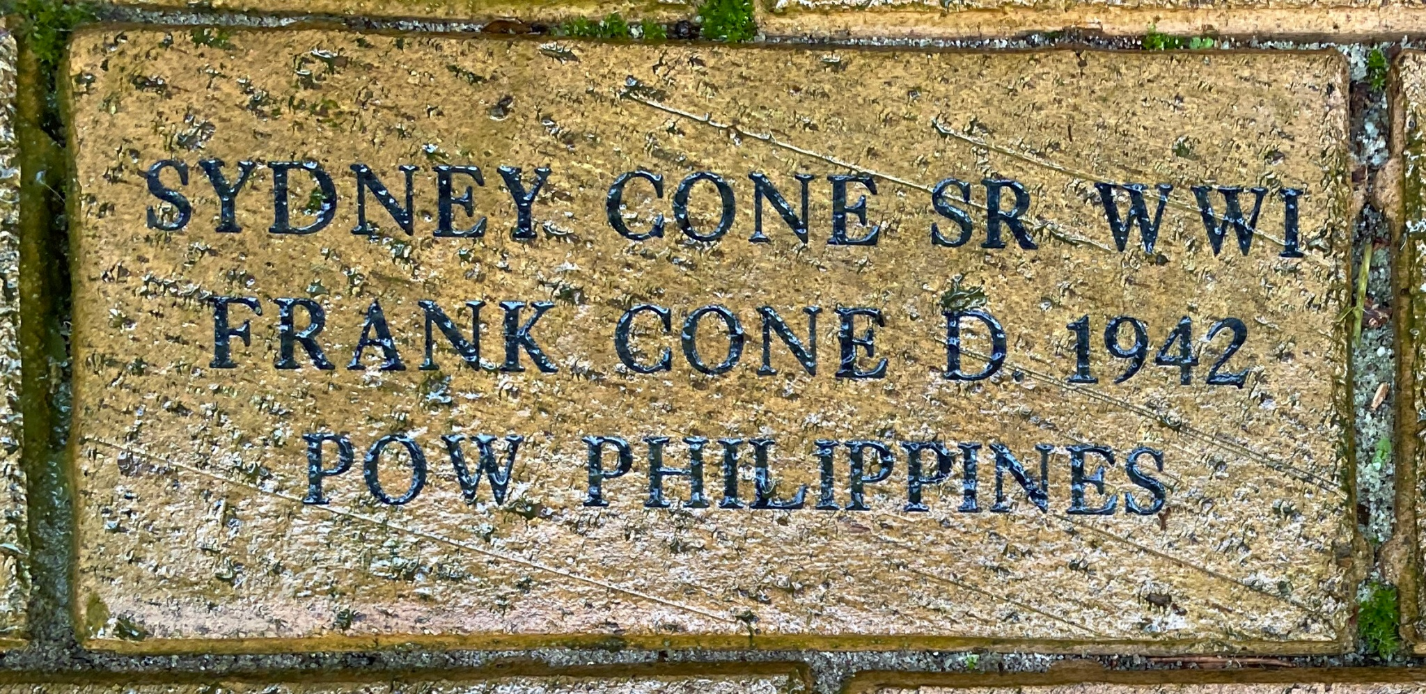 SYDNEY CONE SR WWI FRANK CONE D. 1942 POW PHILIPPINES