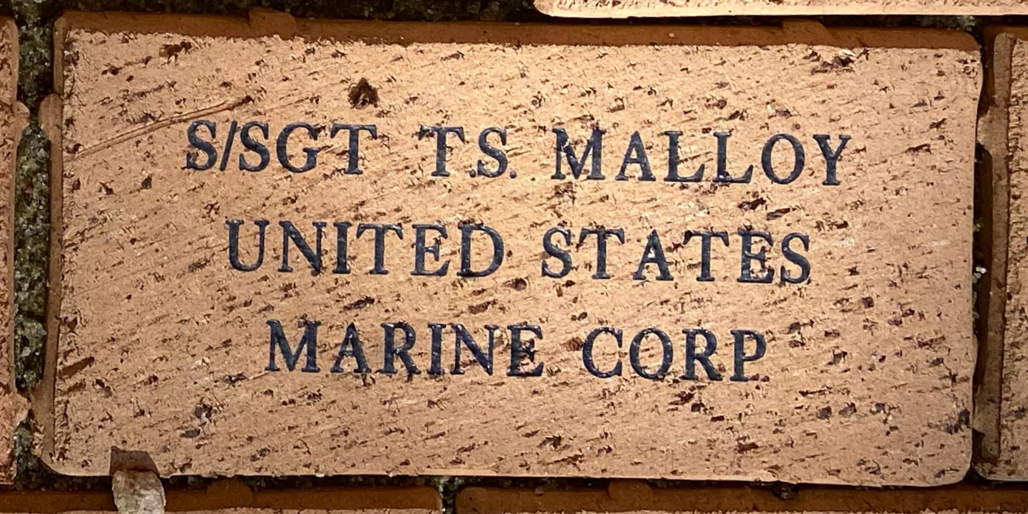 S/SGT T.S. MALLOY UNITED STATES MARINE CORP
