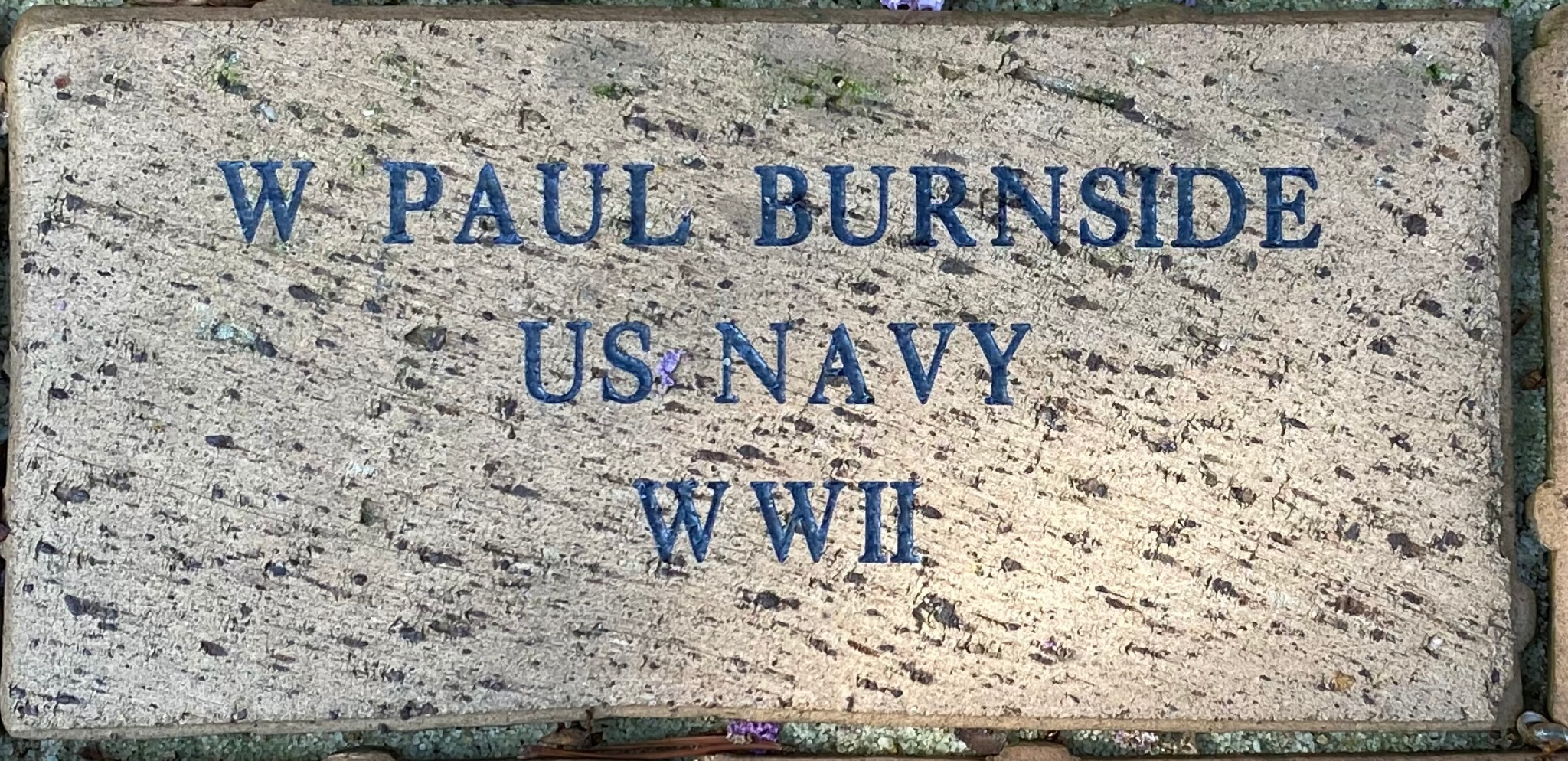 W PAUL BURNSIDE US NAVY WW II