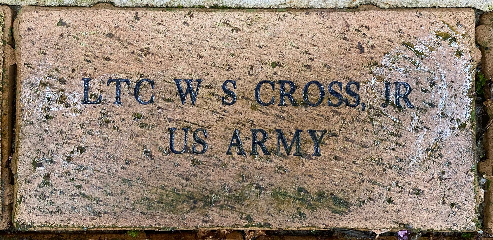 LTC W S CROSS, JR US ARMY