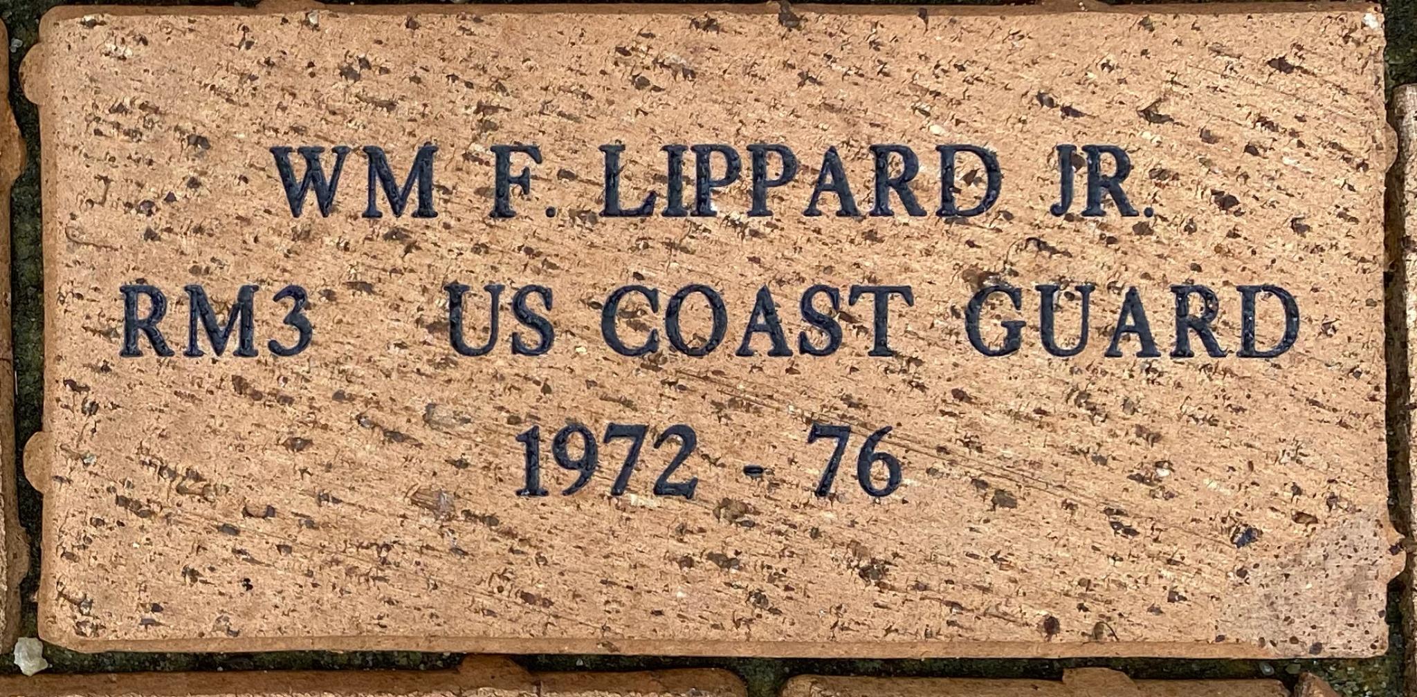 WM F LIPPARD JR RM3 US COAST GUARD 1972 – 76