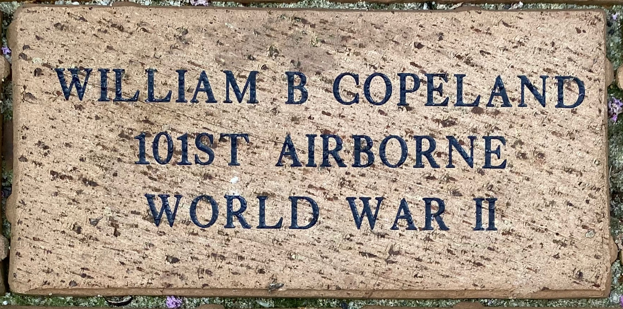 WILLIAM B COPELAND 101ST AIRBORNE WORLD WAR II