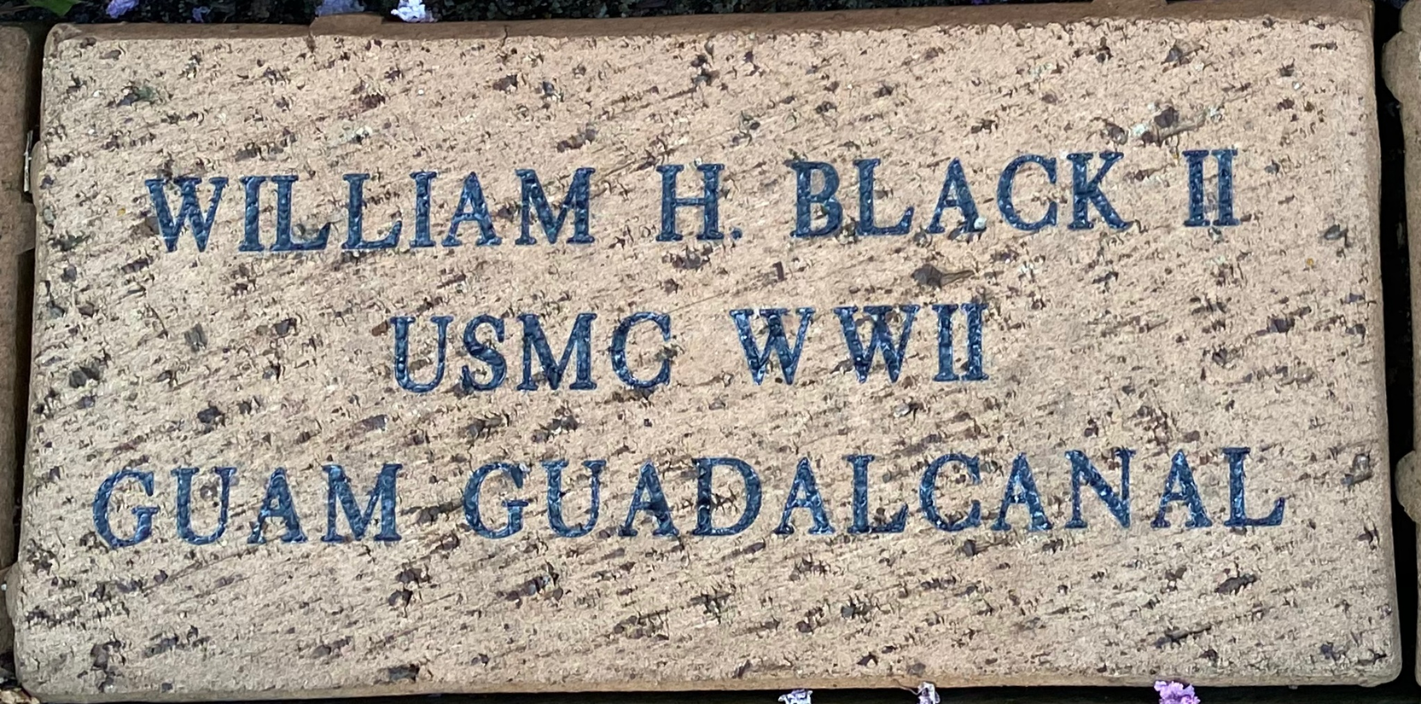 WILLIAM H. BLACK II USMC WWII GUAM GUADALCANAL