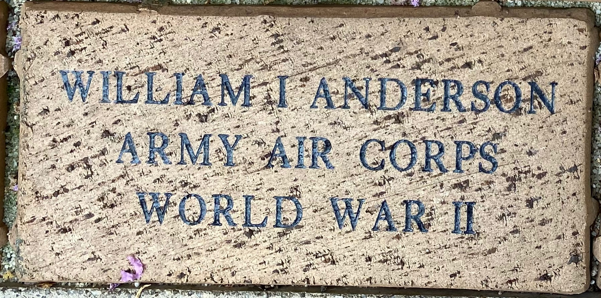WILLIAM I ANDERSON ARMY AIR CORPS WORLD WAR II