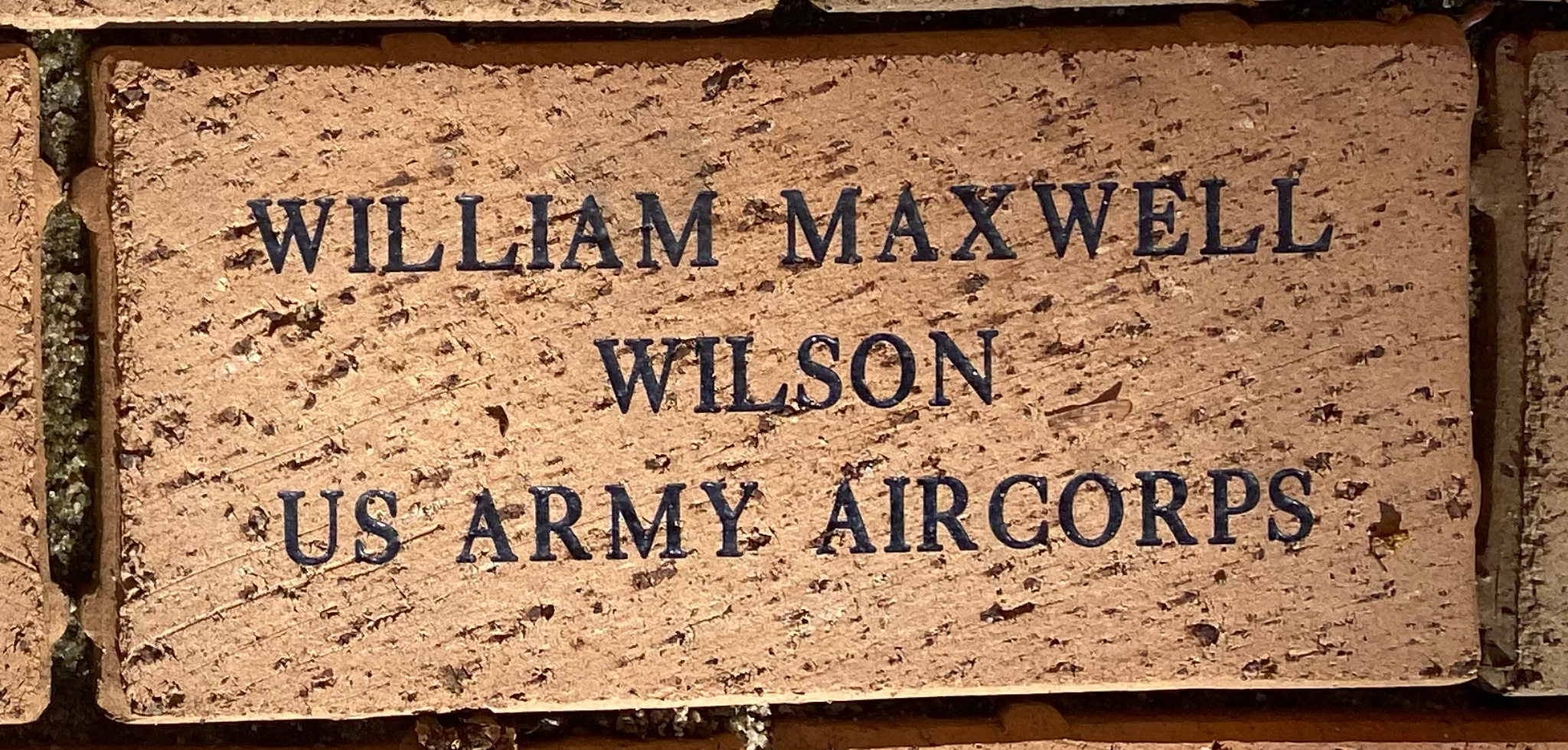 WILLIAM MAXWELL WILSON US ARMY AIRCORPS