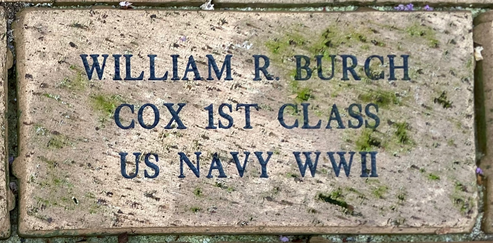WILLIAM R BURCH COX 1ST CLASS  US NAVY WWII