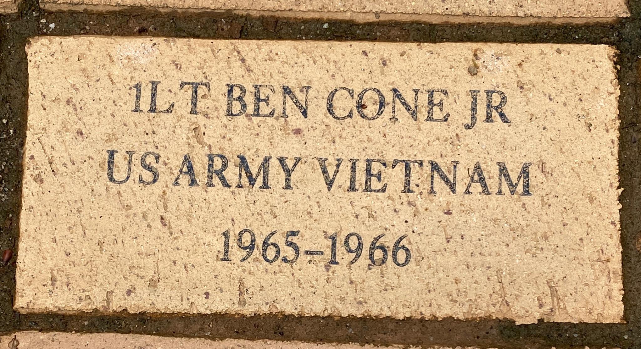 1LT BEN CONE US ARMY VIETNAM 1965-1966