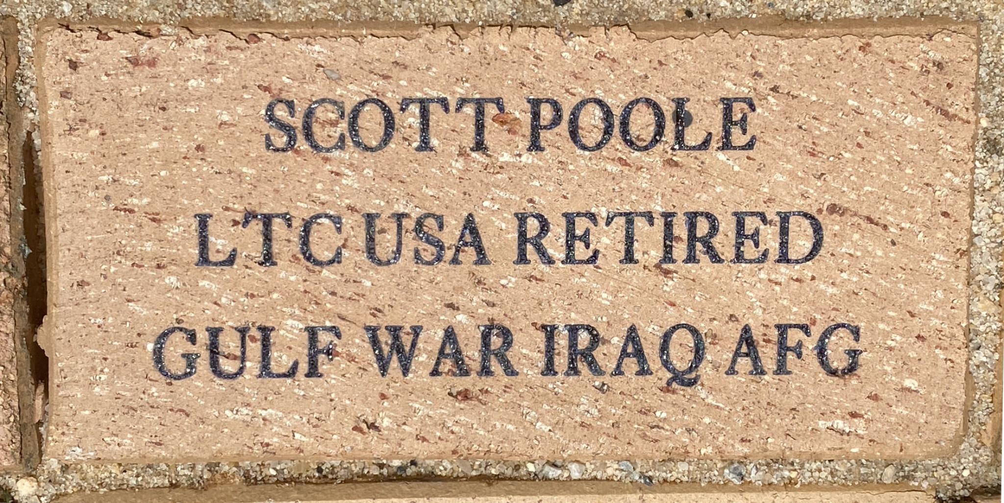 SCOTT POOLE LTC USA RETIRED GULF WAR IRAQ AFG